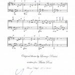 """Esempio di Spartito Musicale sul nome """"Vittorio Pescini"""""""