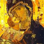 1100 - Madonna della tenerezza (Vladimirskaya) - Galleria Tret'jakov - Mosca
