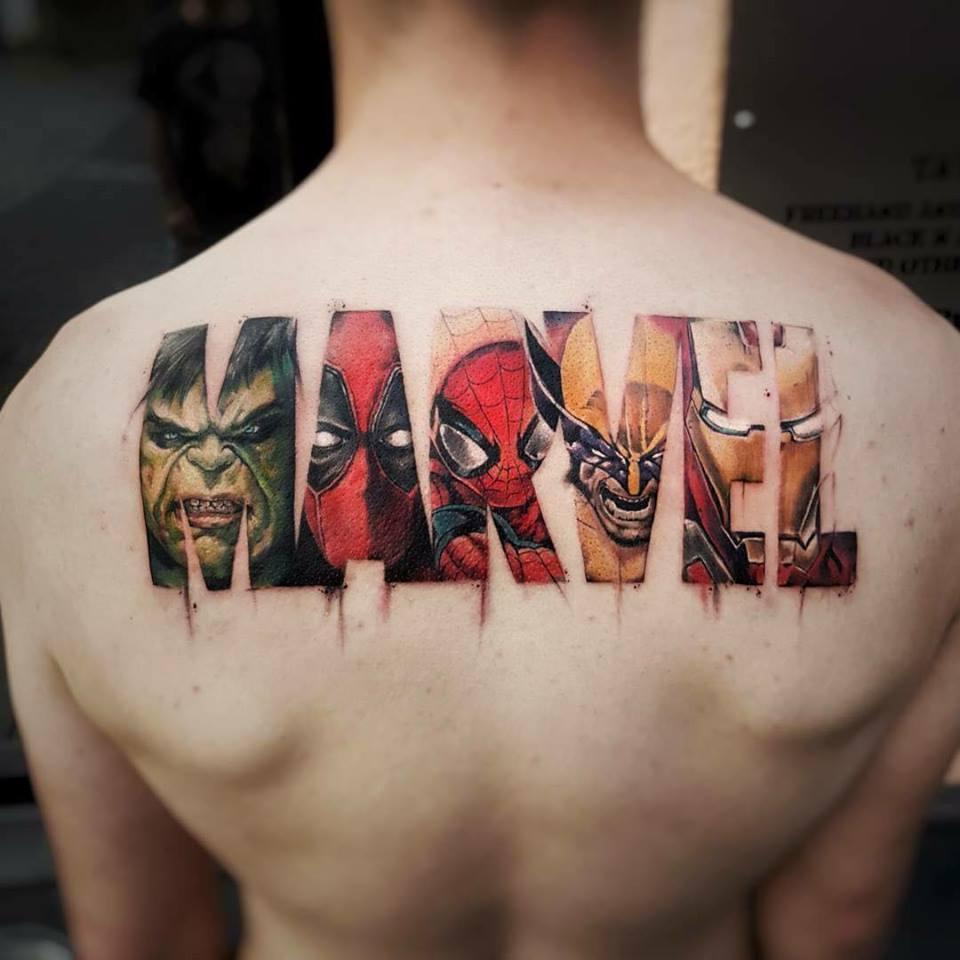 I-tatuaggi-più-belli-del-mondo marvel